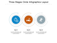 Three Stages Circle Infographics Layout Ppt PowerPoint Presentation File Visuals