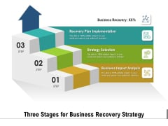 Three Stages For Business Recovery Strategy Ppt PowerPoint Presentation Inspiration Grid PDF