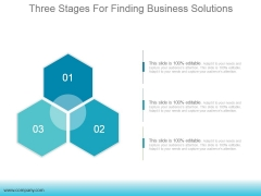 Three Stages For Finding Business Solutions Ppt PowerPoint Presentation Images