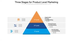 Three Stages For Product Level Marketing Ppt PowerPoint Presentation File Show PDF