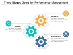 Three Stages Gears For Performance Management Ppt Powerpoint Presentation Ideas Master Slide