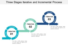 Three Stages Iterative And Incremental Process Ppt PowerPoint Presentation Inspiration Slide Portrait