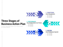 Three Stages Of Business Action Plan Ppt PowerPoint Presentation Graphics