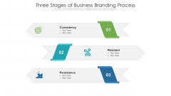 Three Stages Of Business Branding Process Ppt PowerPoint Presentation Icon Infographics PDF
