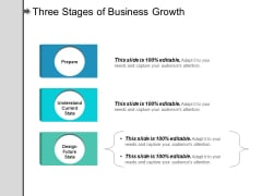 Three Stages Of Business Growth Ppt PowerPoint Presentation Infographic Template Graphics Pictures