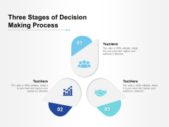 Three Stages Of Decision Making Process Ppt PowerPoint Presentation Professional Show