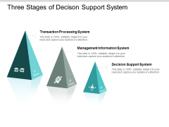 three stages of decison support system ppt powerpoint presentation show files