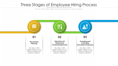Three Stages Of Employee Hiring Process Ppt Model Vector PDF