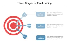 Three Stages Of Goal Setting Ppt PowerPoint Presentation Portfolio Example