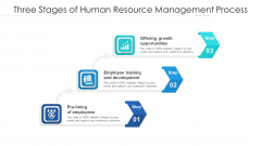 Three Stages Of Human Resource Management Process Ppt Infographic Template Deck PDF