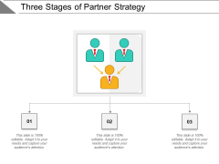 Three Stages Of Partner Strategy Ppt PowerPoint Presentation Professional Clipart Images PDF