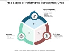Three Stages Of Performance Management Cycle Ppt PowerPoint Presentation Inspiration Graphic Tips