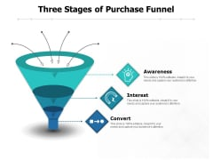 Three Stages Of Purchase Funnel Ppt PowerPoint Presentation Ideas Graphics PDF