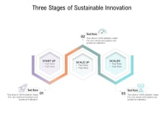 Three Stages Of Sustainable Innovation Ppt PowerPoint Presentation Model Format