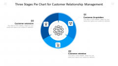 Three Stages Pie Chart For Customer Relationship Management Ppt Outline Structure PDF