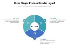 Three Stages Process Circular Layout Ppt PowerPoint Presentation Professional Objects