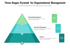 Three Stages Pyramid For Organizational Management Ppt PowerPoint Presentation Gallery Show PDF