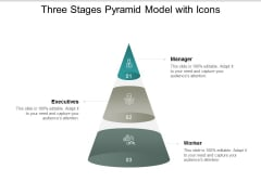 three stages pyramid model with icons ppt powerpoint presentation portfolio slides