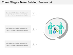 Three Stages Team Building Framework Ppt PowerPoint Presentation Infographic Template Rules PDF
