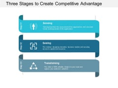 Three Stages To Create Competitive Advantage Ppt PowerPoint Presentation Slides Infographic Template