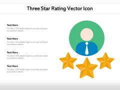 Three Star Rating Vector Icon Ppt PowerPoint Presentation Summary Vector PDF