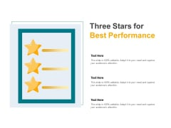 Three Stars For Best Performance Ppt PowerPoint Presentation Gallery Gridlines