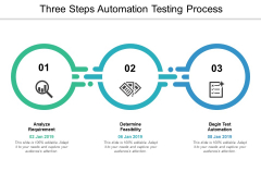 Three Steps Automation Testing Process Ppt PowerPoint Presentation Styles Graphic Images