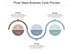 Three Steps Business Cycle Process Ppt PowerPoint Presentation Inspiration Example