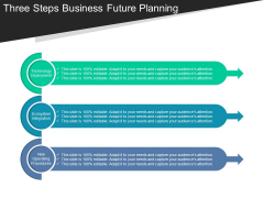 Three Steps Business Future Planning Ppt PowerPoint Presentation Infographics Layouts