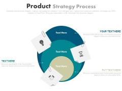 Three Steps Business Strategy Chart Powerpoint Template