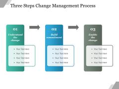 Three Steps Change Management Process Ppt PowerPoint Presentation Slides Visual Aids