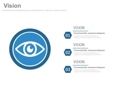 Three Steps For Business Vision Strategy Powerpoint Slides