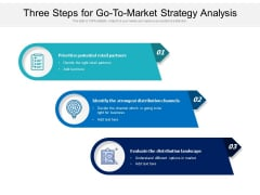 Three Steps For Go To Market Strategy Analysis Ppt PowerPoint Presentation Ideas Infographics PDF