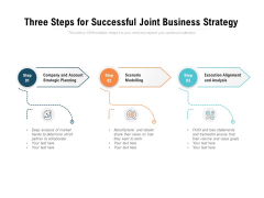 Three Steps For Successful Joint Business Strategy Ppt PowerPoint Presentation Gallery Graphics Download PDF