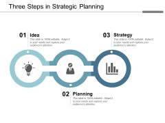 Three Steps In Strategic Planning Ppt Powerpoint Presentation Model Maker