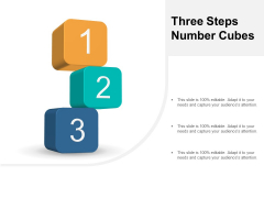 Three Steps Number Cubes Ppt PowerPoint Presentation Pictures Structure