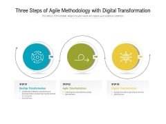 Three Steps Of Agile Methodology With Digital Transformation Ppt PowerPoint Presentation Model Templates PDF