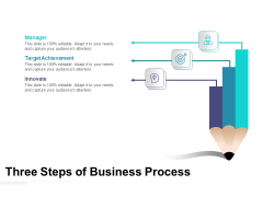 Three Steps Of Business Process Ppt PowerPoint Presentation File Summary PDF