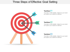 Three Steps Of Effective Goal Setting Ppt PowerPoint Presentation Layouts Themes