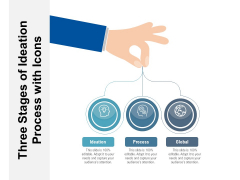 Three Steps Of Innovation Process With Icons Ppt PowerPoint Presentation File Layout PDF