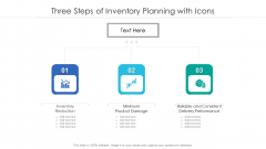 Three Steps Of Inventory Planning With Icons Ppt Professional File Formats PDF