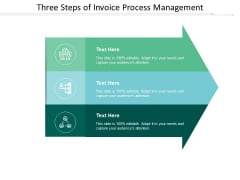 Three Steps Of Invoice Process Management Ppt Powerpoint Presentation Show Background
