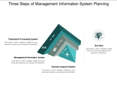 Three Steps Of Management Information System Planning Ppt PowerPoint Presentation Outline Deck