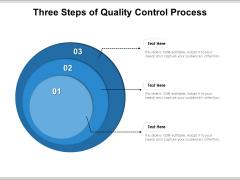 Three Steps Of Quality Control Process Ppt PowerPoint Presentation Portfolio Master Slide PDF