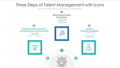 Three Steps Of Talent Management With Icons Ppt Gallery Graphics Download PDF