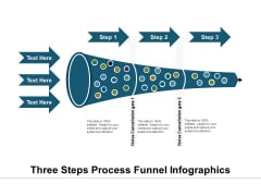 Three Steps Process Funnel Infographics Ppt PowerPoint Presentation Icon Template PDF