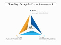 Three Steps Triangle For Economic Assessment Ppt PowerPoint Presentation File Show PDF