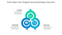 Three Steps Venn Diagram Showing Strategy Execution Ppt PowerPoint Presentation Summary Background Image PDF