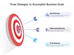 Three Strategies To Accomplish Business Goals Ppt Infographic Template PDF