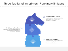 Three Tactics Of Investment Planning With Icons Ppt PowerPoint Presentation Infographic Template Introduction PDF